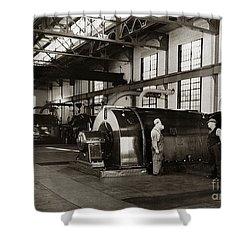 Nanticoke Pa Electrical Generators Glen Alden Mines Power Plant 1945 Shower Curtain