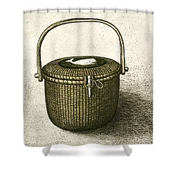 Nantucket Basket Shower Curtain by Charles Harden