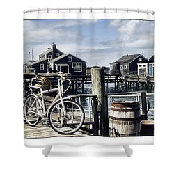 Nantucket Bikes 1 Shower Curtain by Tammy Wetzel