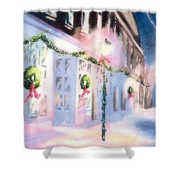 Nantucket Christmas Shower Curtain by Joseph Gallant