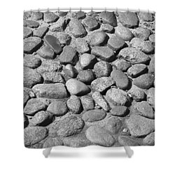 Nantucket Cobblestones Shower Curtain by Charles Harden