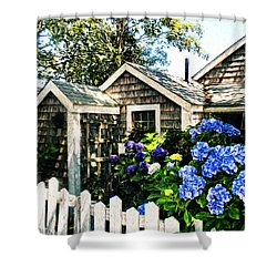 Nantucket Cottage No.1 Shower Curtain by Tammy Wetzel