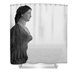 Nantucket Figurehead Shower Curtain