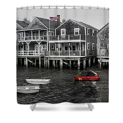 Nantucket In Bw Series 6139 Shower Curtain