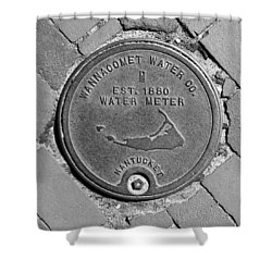 Nantucket Water Meter Cover Shower Curtain by Charles Harden