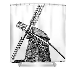 Nantucket Windmill Number One Shower Curtain