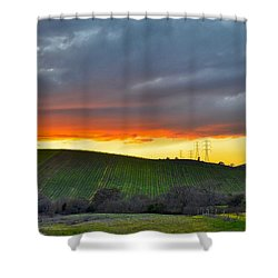 Napa Sunrise Shower Curtain