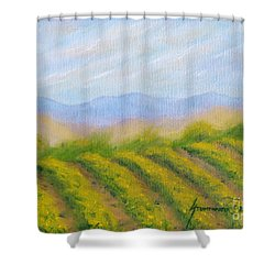 Napa Valley Vineyard Shower Curtain by Jerome Stumphauzer