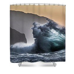 Napali Coast Hawaii Wave Explosion IIi Shower Curtain