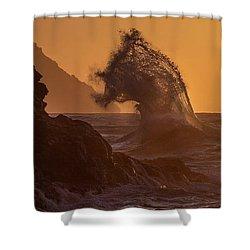 Napali Coast Kauai Hawaii Wave Explosion Iv Shower Curtain