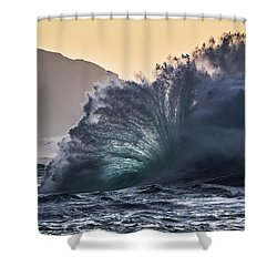 Napali Coast Kauai Wave Explosion Hawaii Shower Curtain
