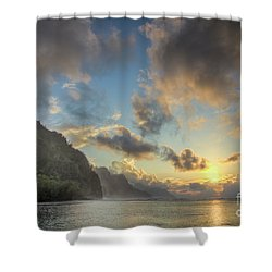 Napali Coast Sunset Kauai Shower Curtain
