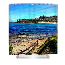 Napili Beach Gazebo Walkway Shower Curtain Size Shower Curtain