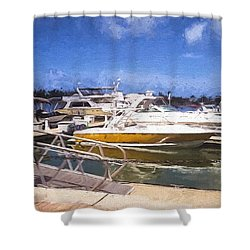 Naples Dock Shower Curtain