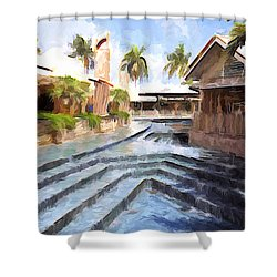 Naples Falls Shopping  Shower Curtain