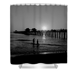 Naples Florida Pier Sunset Shower Curtain