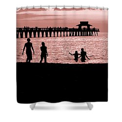 Naples Florida Sunset Shower Curtain