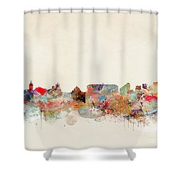 Shower Curtain featuring the painting Naples Italy by Bri B