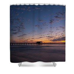 Naples Pier Magic Hour Shower Curtain