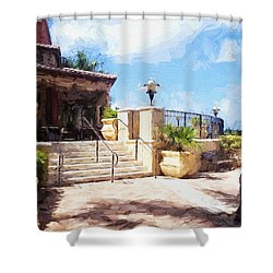 Naples Scenic Places Shower Curtain