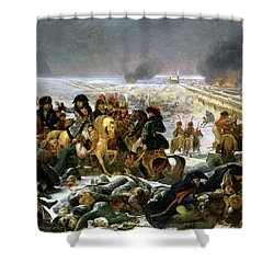 Shower Curtain featuring the painting Napoleon At Eylau  by Antoine Jean Gros