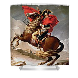 Napoleon Crossing The Alps Shower Curtain