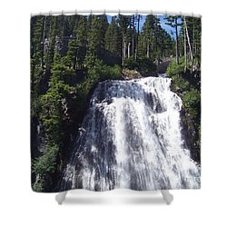Shower Curtain featuring the photograph Narada Falls by Charles Robinson