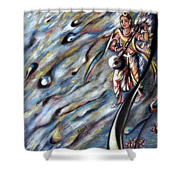 Narada Muni Shower Curtain by Harsh Malik
