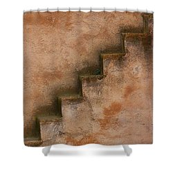 Shower Curtain featuring the photograph Narrow Stairs by Ramona Johnston