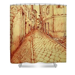 Narrow Street Of Lovere Italy Shower Curtain by Maja Sokolowska