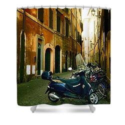 narrow streets in Rome Shower Curtain by Joana Kruse