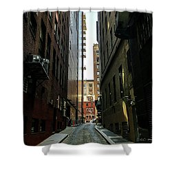 Narrow Streets Of Cobble Stone Shower Curtain by Bruce Carpenter