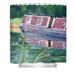 Narrowboat Shower Curtain