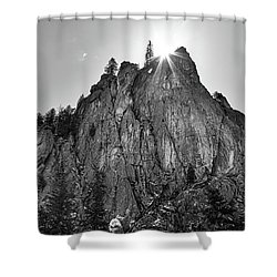 Shower Curtain featuring the photograph Narrows Pinnacle Boulder Canyon by James BO Insogna