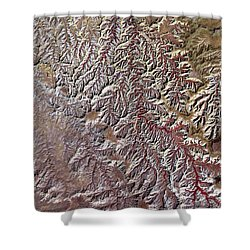 Nasa Image-canyonlands National Park, Utah-2 Shower Curtain