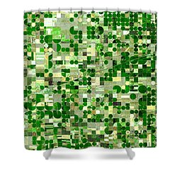Nasa Image-finney County, Kansas-2 Shower Curtain
