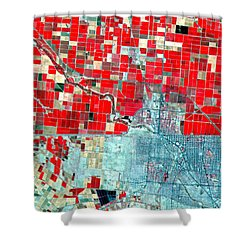Nasa Image-us-mexico Border-2 Shower Curtain