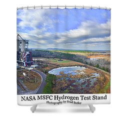 Nasa Msfc Hydrogen Test Stand - Original Shower Curtain