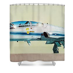 Nasa T-38 Talon Shower Curtain by Douglas Castleman
