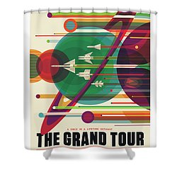Nasa The Grand Tour Poster Art Visions Of The Future Shower Curtain