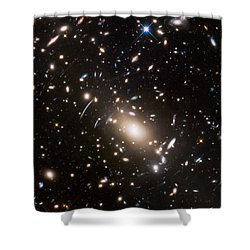 Shower Curtain featuring the photograph Nasa's Hubble Looks To The Final Frontier by Nasa