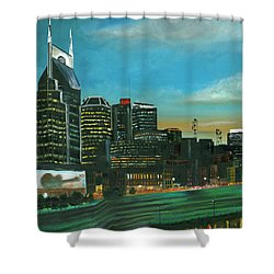 Nashville At Dusk Shower Curtain