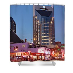 Shower Curtain featuring the photograph Nashville - Batman Building by Brian Jannsen