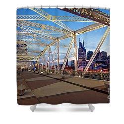 Shower Curtain featuring the photograph Nashville Bridge II by Brian Jannsen