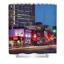 Shower Curtain featuring the photograph Nashville - Broadway Street by Brian Jannsen