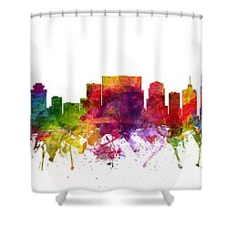 Nashville Cityscape 06 Shower Curtain by Aged Pixel