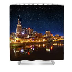 Nashville Nights Shower Curtain by Robert Hebert