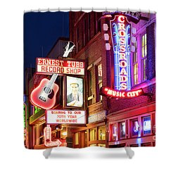 Shower Curtain featuring the photograph Nashville Signs by Brian Jannsen
