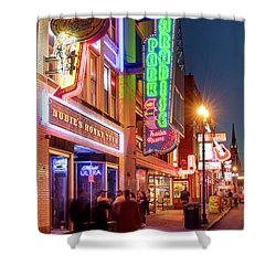 Shower Curtain featuring the photograph Nashville Signs II by Brian Jannsen