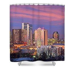 Nashville Skyline At Dusk 2018 Panorama Color Shower Curtain